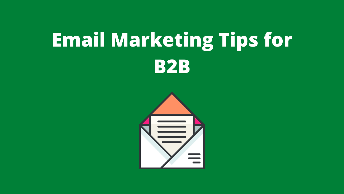Email Marketing Tips for B2B Image