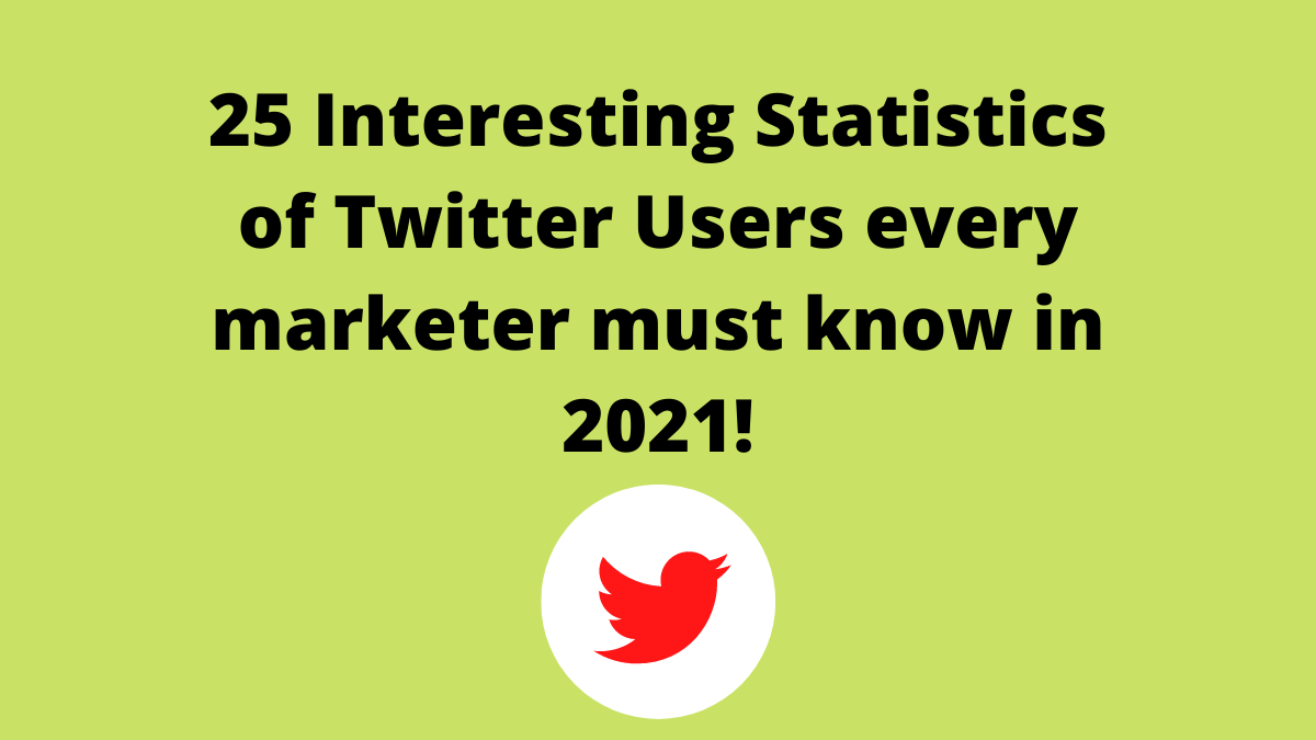 25 Interesting Statistics of Twitter Users every marketer must know in 2021