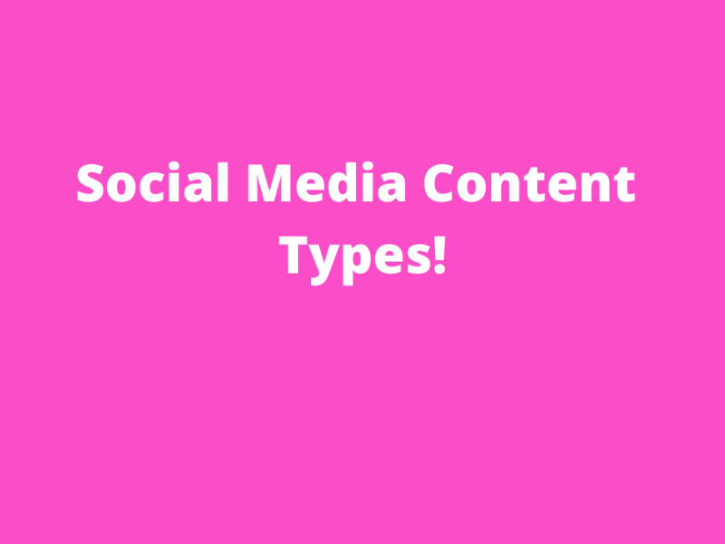 Social Media Content Types Image