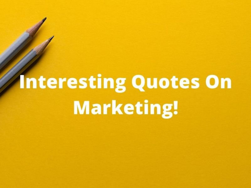 Quotes On Marketing